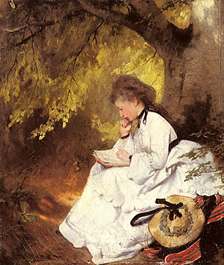Raupp_Karl_An_Elegant_Lady_Reading_Under_A_Tree